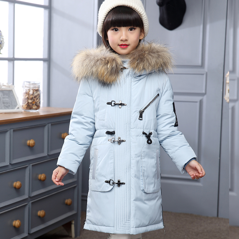 2017 New Baby Girls Boys Winter Coats Jacket Children Down Outerwear Warm Thick Outdoor Kids Fur Collar Snow Proof Coat Parkas korean baby girls parkas 2017 winter children clothing thick outerwear casual coats kids clothes thicken cotton padded warm coat