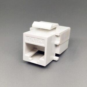 Image 3 - CAT6 RJ45 הכנס Keystone Gigabit LAN מצמד תקע סטנדרטי T568A/B רשת מודול חריץ עבור שקע אינטרנט Ethernet מחבר