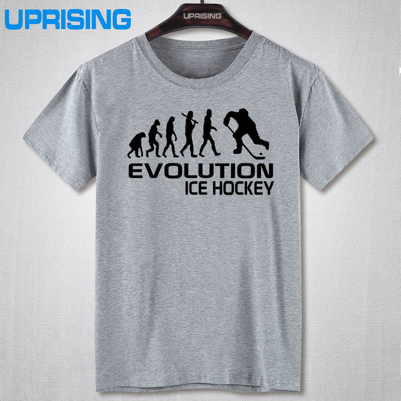 New Summer Evolution Of Ice Hockeyer YOUTH TOP CLUB T-shirt Men Cotton Printed Short-sleeve T shirt