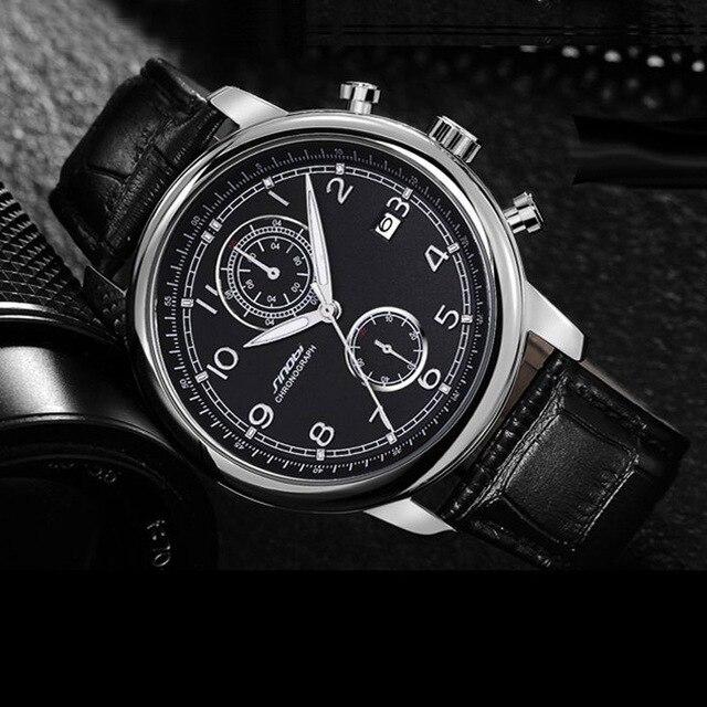 15a10473fcf SINOBI dos homens Relogio masculino Militar Sports Chronograph Relógios de  Pulso Nova Chegada 2018 Relógio de