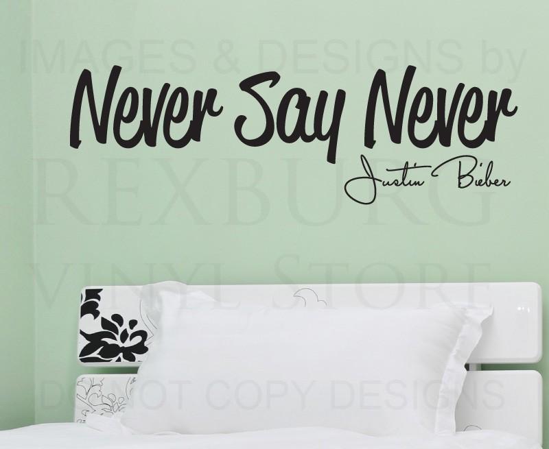 tatuajes de pared sticker cita del arte del vinilo letras justin bieber never say never decoracin