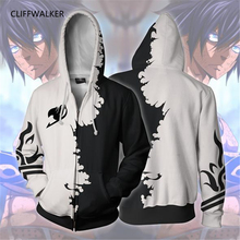 Dropshipping Sweatshirts FAIRY TAIL 3D Printing Casual Zipper Hoodies For Men's Women's Long Sleeve Hooded Pocket Pullovers Tops