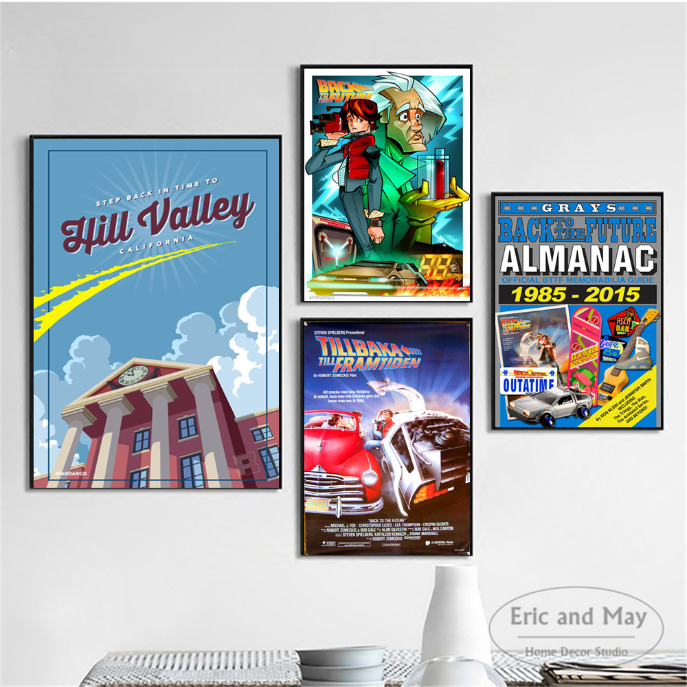Cartoon Back To The Future Comic Posters And Prints Wall Art Canvas Painting For Living Room Decoration Home Decor Unframed in Painting Calligraphy from Home Garden