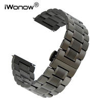 20mm 22mm Stainless Steel Watchband Quick Release Watch Band Univesal Wrist Strap Replacement Belt Bracelet Black