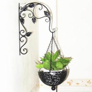 Cada d a especial decorativo de pared de hierro forjado maceta colgador cestas ara a jard n de - Colgadores de macetas ...