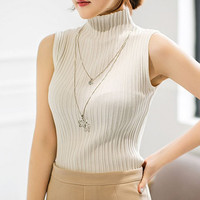 DoreenBow Casual Sexy Women Knitted Vest Clothing Solid Summer Female Tank Tops White Gray Black Colors