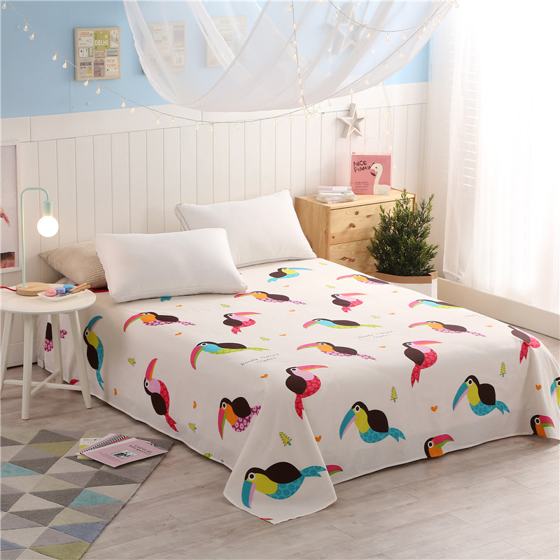 Magic Girl Cotton Printing Bedding Flat Sheet Bed Linens Single / Double  Bedsheets Home Textile Twin Full Queen Size Bed Sheet In Sheet From Home U0026  Garden ...