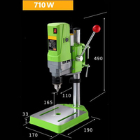 710W Mini Drill Press Bench 2800RPM Clamping Range 1.5 13mm CNC Milling Drilling Machine High Speed