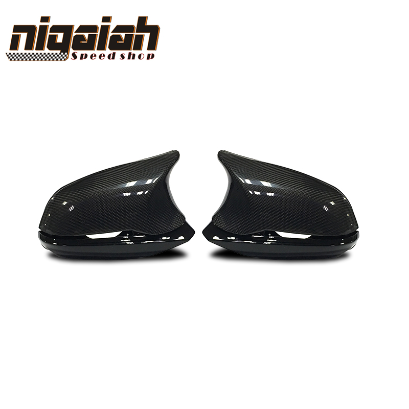 Brand New Replacement 6pcs car styling Carbon fiber Rear View side mirror cover for BMW F20
