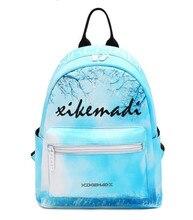 Miwind-F голубое небо пейзаж рюкзак с принтом весна/лето мода новый рюкзак, женские милые школьные сумки Известные бренды Mochila