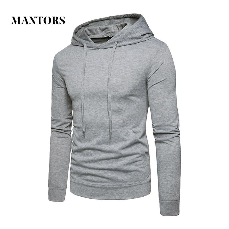 Hoodies Men Long Sleeve Solid Color Hooded Sweatshirt Male Hoodie Casual Sportswear Slim Tracksuit 2018 New Mens Pullover Sweat