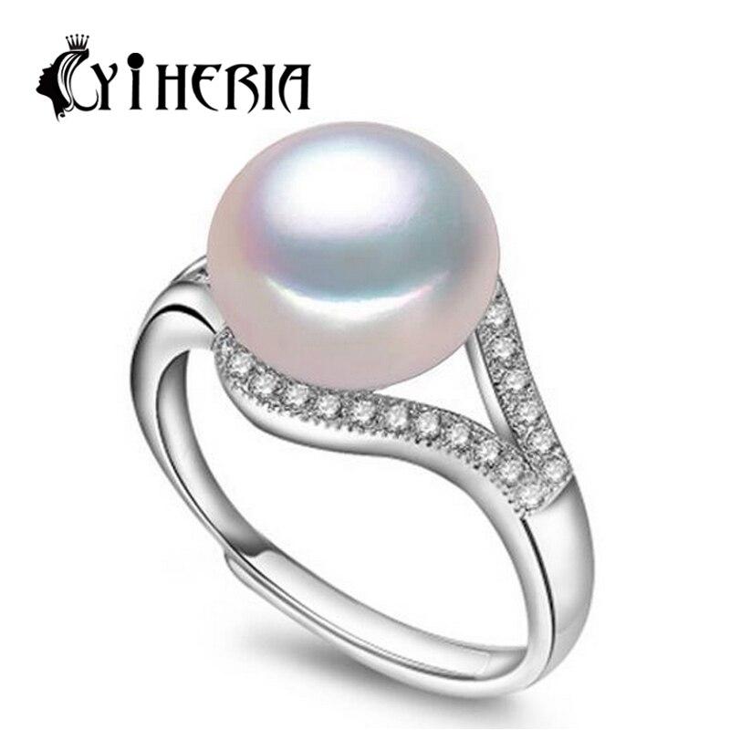 Prix pour Mode perle bijoux accessoires, naturel D'eau Douce perle anneau pour les femmes cadeau, 925 bague en argent, anneaux de mariage, cc