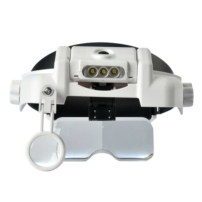 Headband Magnifier 1.0X/1.5X/2.0X/2.5X/3.5X/8X Helmet Dental Loupe with 6pcs Interchangeable Lens and LED Third Hand Magnifier 8x folding magnifier with scale
