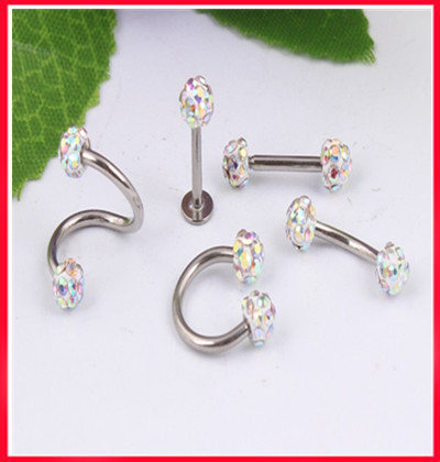 16G labret rings L31 free shipping 50pcs lot mix 5 style Ferido ball CBR spiral nose