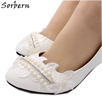04e70da71d5 Sorbern Beaded Crystal Women Pumps Kitten Heels Slip On Wedding Shoes Pump  Women Shoes Little Heels