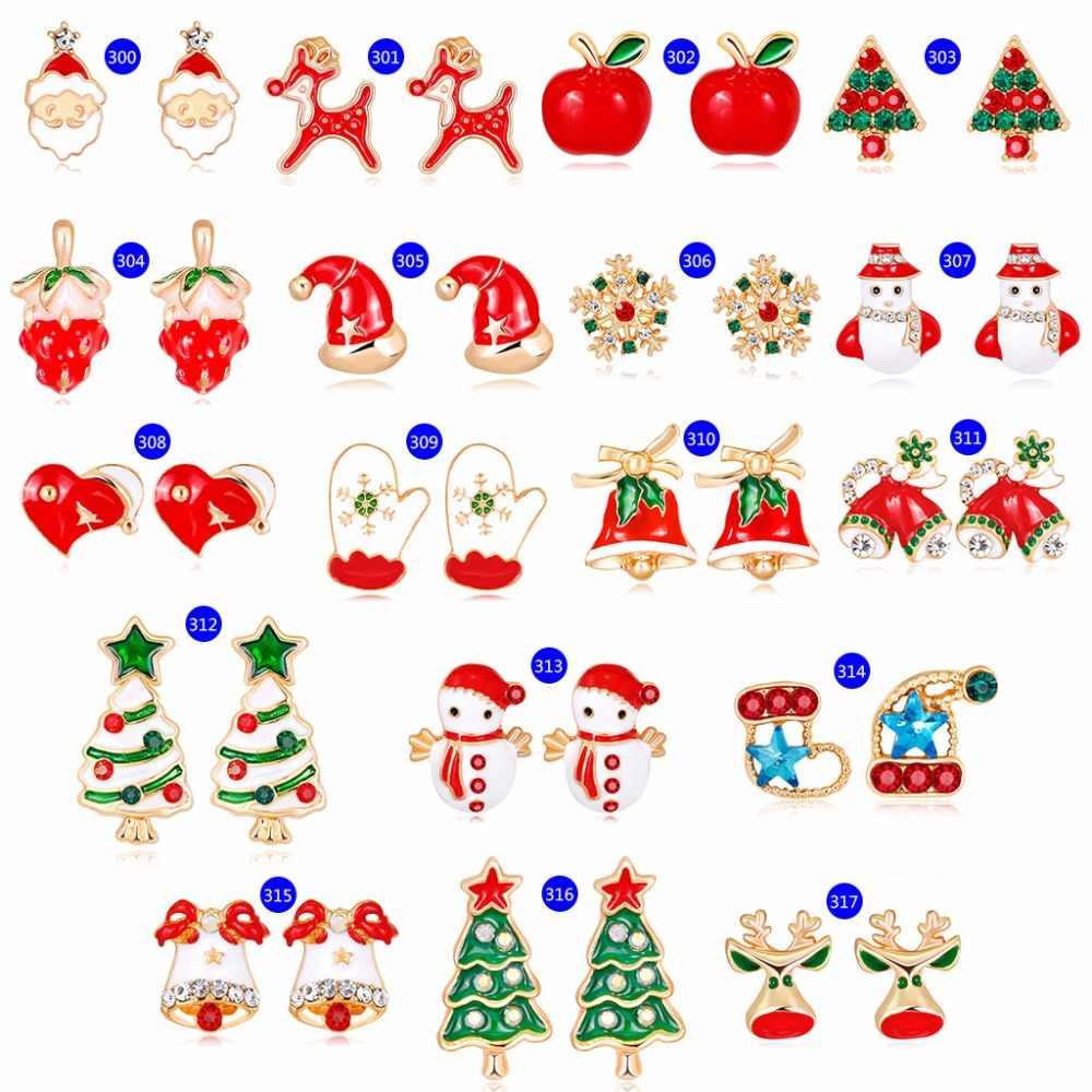 Новое поступление, рождественские серьги, новый год, серьги-гвоздики, креативные модные ювелирные изделия, подарки