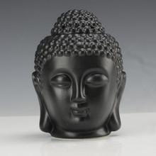 NOOLIM керамическая ароматерапия масляная горелка с Буддой голова аромат эфирное масло диффузор Индийские благовония Будда горелка для тибетских благовоний
