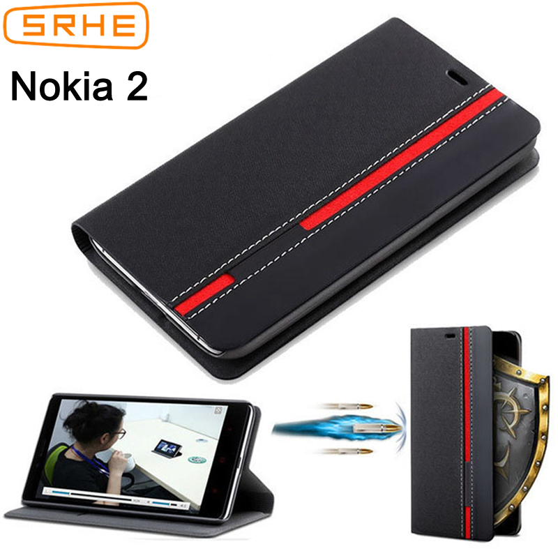 For <font><b>Nokia</b></font> <font><b>2</b></font> Case Flip Leather Silicone Luxury Fashion Back Cover For Nokia2 A-<font><b>1029</b></font> TA-1035 TA <font><b>1029</b></font> 1035 Case With Card Holder image