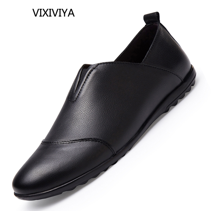 Moda para hombre zapatos de cuero genuino transpirable sólidos - Zapatos de hombre