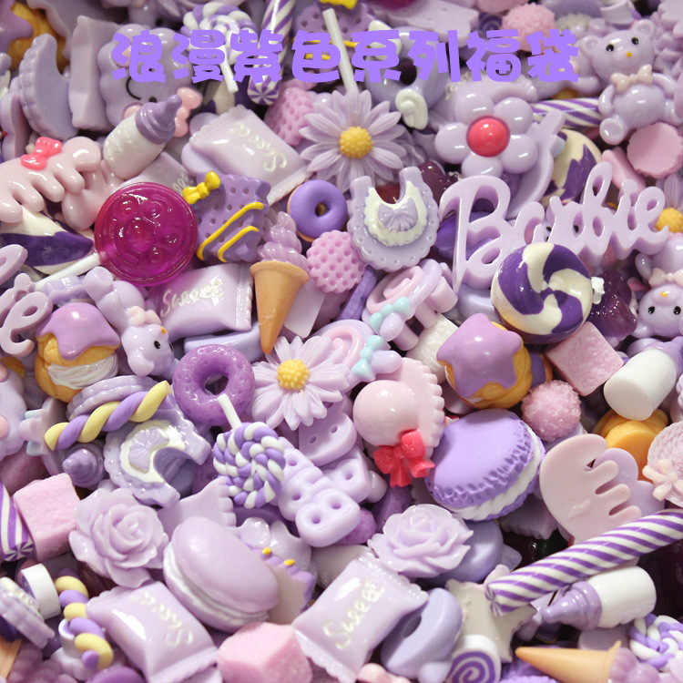 10Pcs Donut Diy Slime Supplies Accessories Phone Case Decoration for Slime Filler Miniature Resin Cake Fruits Candy Chocolate