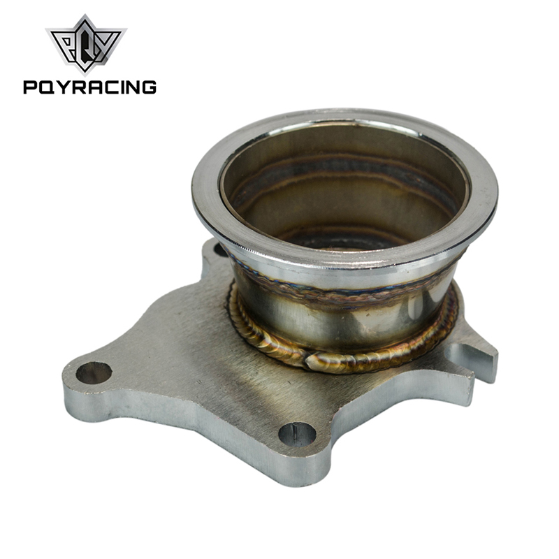 PQY - Stainless Steel Adapter For T3/T4 Turbo 5 Bolt To 3