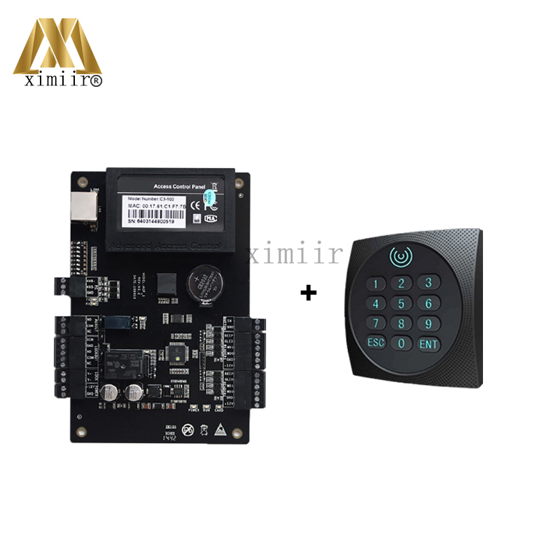 Good Quality C3-100 Single Door Access Controller Smart Proximity Card Weigand Door Access Control System Access Control Panel c3 100 single door high quality access control system one door two way access control panel 1 pc rfid reader 1 pc exit button