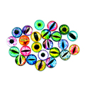 20Pcs 12MM/16MM/20MM Glass Dolls Eye DIY Craft Eyes for Toy Dinosaur Animal Eye Time Gem Accessories No Self-adhesive
