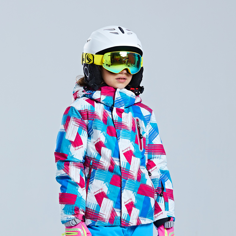 new big brand Boys Girls Children Outdoors Jackets Thickening Warm Ski Jackets and pant Baby Hooded