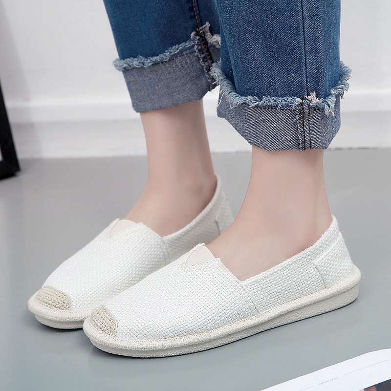 Women's Shoes Flat Casual Summer Sneakers 2018 Breathable Solid Black White Canvas Espadrilles Women Loafers Slip on Shoes zuoxiangru new casual shoes woman slip on flat shoes women sneakers classic canvas loafers espadrilles casual shoes size 36 40