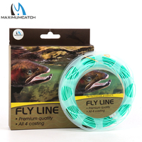 Maxcatch 90FT 3 4WT Nymph Fly Fishing Line Weight Forward Floating Fly Line With Two Welded