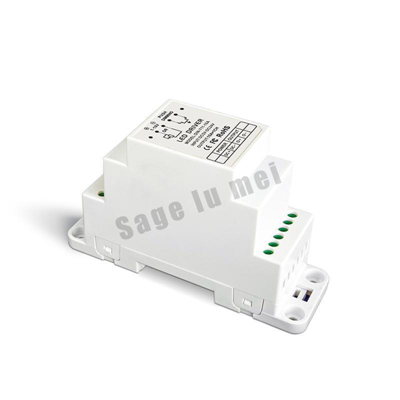 Free shipping DIN-711-10A;CV 0-10V to PWM Dimmer Driver (DIN rail/Screw dual-use) DC5V-24V input 10AX1CH 50W/120W/240W output free shipping 110v 220v 75w 0 10v dimmers 0 10v led driver 0 10v dimmable dimmer 1 channel pn dm9123h v series
