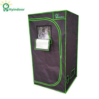 Hyindoor Garden Supplies Greenhouses Hydroponics Reflective Mylar Non Toxic Grow Tent Room Shed 100*100*200(39*39*78 Inches)
