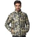 Hombres abajo abrigos Longsleeve perchero cuello hacia abajo camuflaje hombres ultraligero moda casual caliente abajo chaqueta de invierno Z1078-Euro
