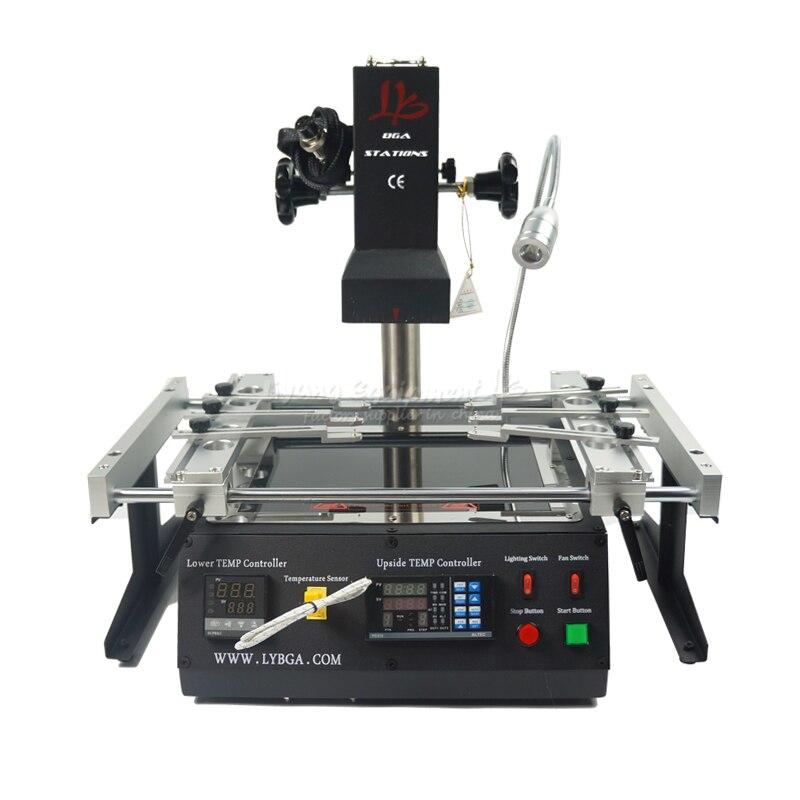 2019 NOVA IR6500 V2 LY estação de retrabalho bga Infravermelho IR máquina bga com bolas de solda Fluxo de Solda bga Stencils para reparação celular
