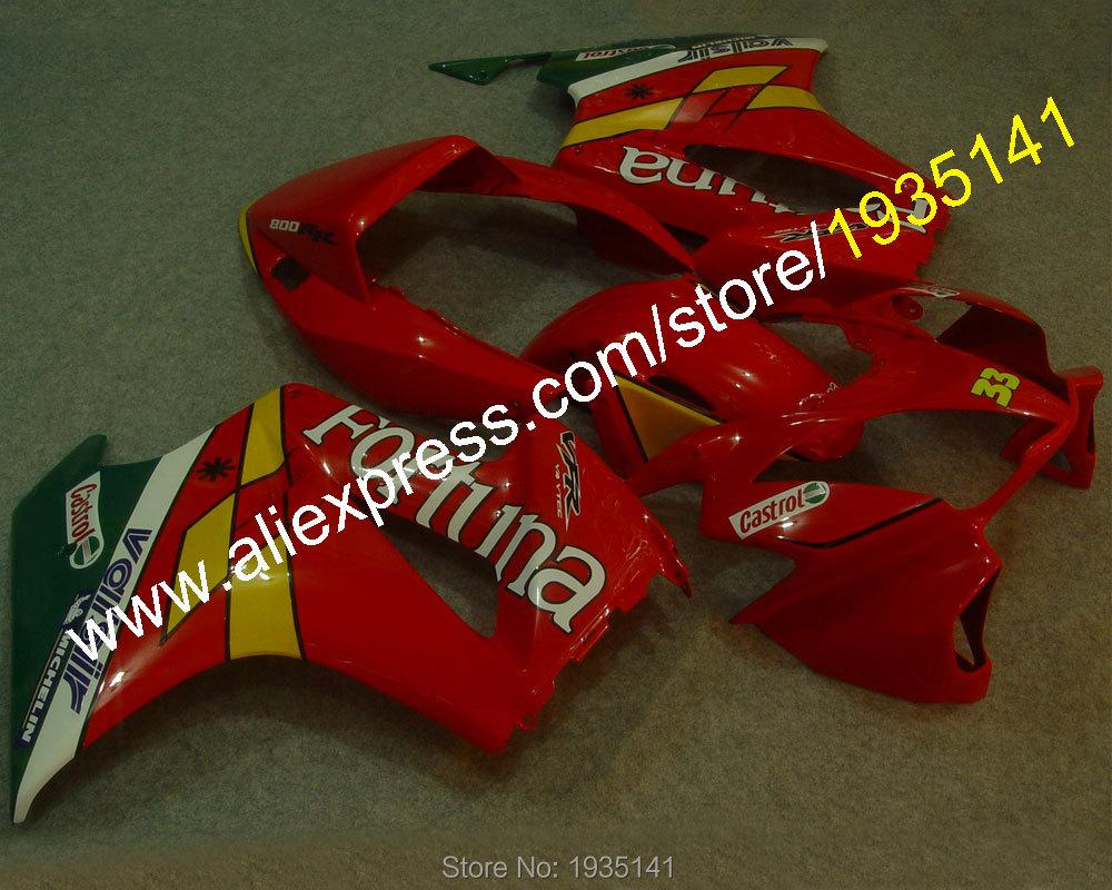 Горячие продаж,Кастрол кузова для Honda 2002-2012 VFR800 ПВП 800 02-12 послепродажного обтекатель комплект из motorcyele (Инжекционный метод литья)