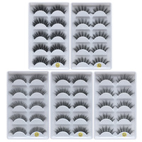 wholesale 50 set of 5 pair False sythetic fiber eyelashes extension 3D Dramatic lashes full strip eyelash DHL free ship