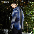 VIISHOW Shirt Men Fashion Casual Striped Shirt Men Long Sleeve Men Dress Shirts Cotton Shirt Men Camisa masculina CC1109171