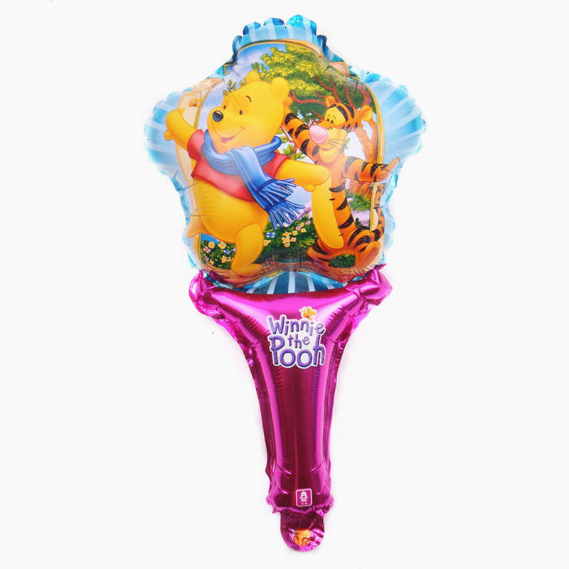 XXPWJ New Hand Holds Bear Aluminum Balloon High Quality Cartoon Decorative Balloon Wholesale D-013