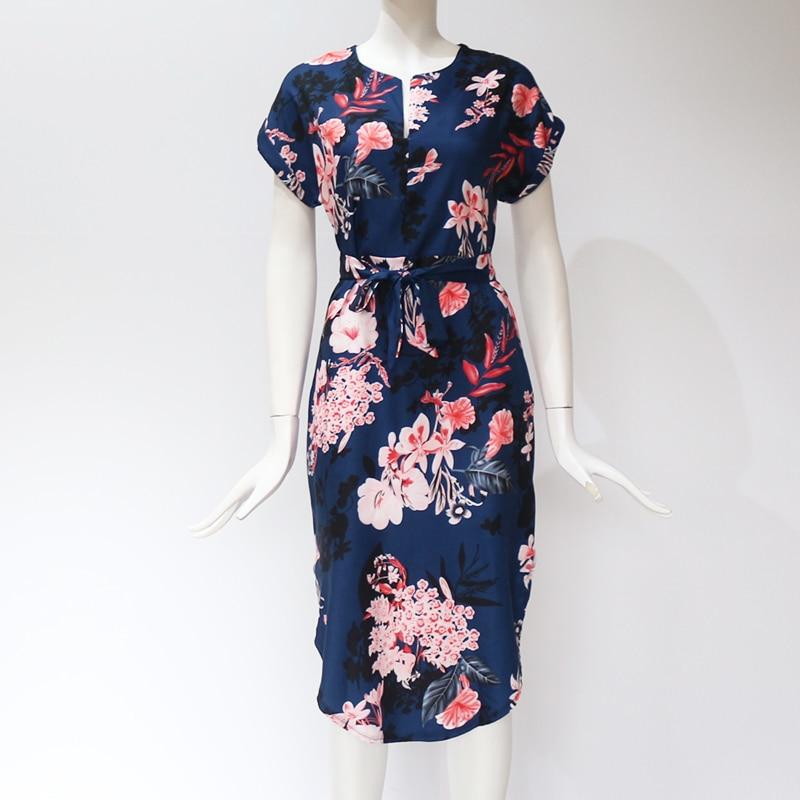 Midi Party Dresses Geometric Print Loose Batwing Sleeve Dress 33