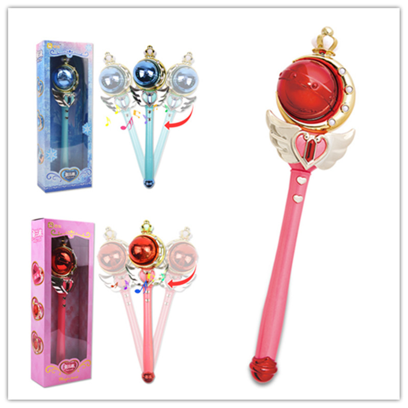 Novelty & Special Use Costume Props Anime Card Captor Sakura Sailor Moon Magic Stick Kids Magic Wand Cosplay Props Choice Materials