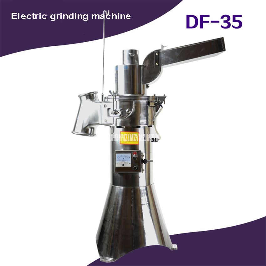 DF-35 2000W 1-35kg/h Electric Automatic Grinding Machine Continuous Feeding Grinder Pepper Herb Medicine Mill Grinder Machine