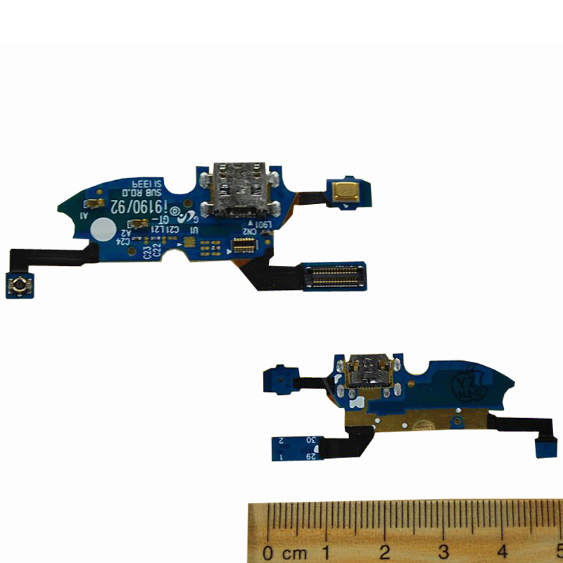 New Charger Port Dock USB Connector Flex Cable For Samsung Galaxy S3 Mini I8190 S4 Mini I9190 Headphone Audio Jack Flex Ribbon in Mobile Phone Flex Cables from Cellphones Telecommunications