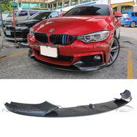 Car Style Carbon Fiber Racing Front Lip Splitter for BMW 4 Series F32 M Sport Bumper 2014UP car accessories car styling