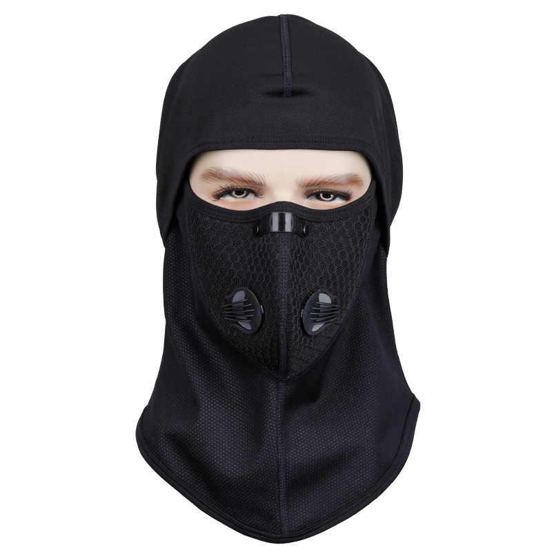 Musim Dingin Sepeda Wajah Topeng Topi Ski Sepeda Hiking Masker Wajah Termal Bulu Snowboard Perisai Topi Dingin Hiasan Kepala Bersepeda Wajah Topeng