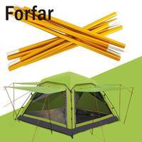 2 Pcs Tent Accessories Tent Aluminum Alloy Gold Outdoor Activities Camping Tent Roof Bracket Peg Travel