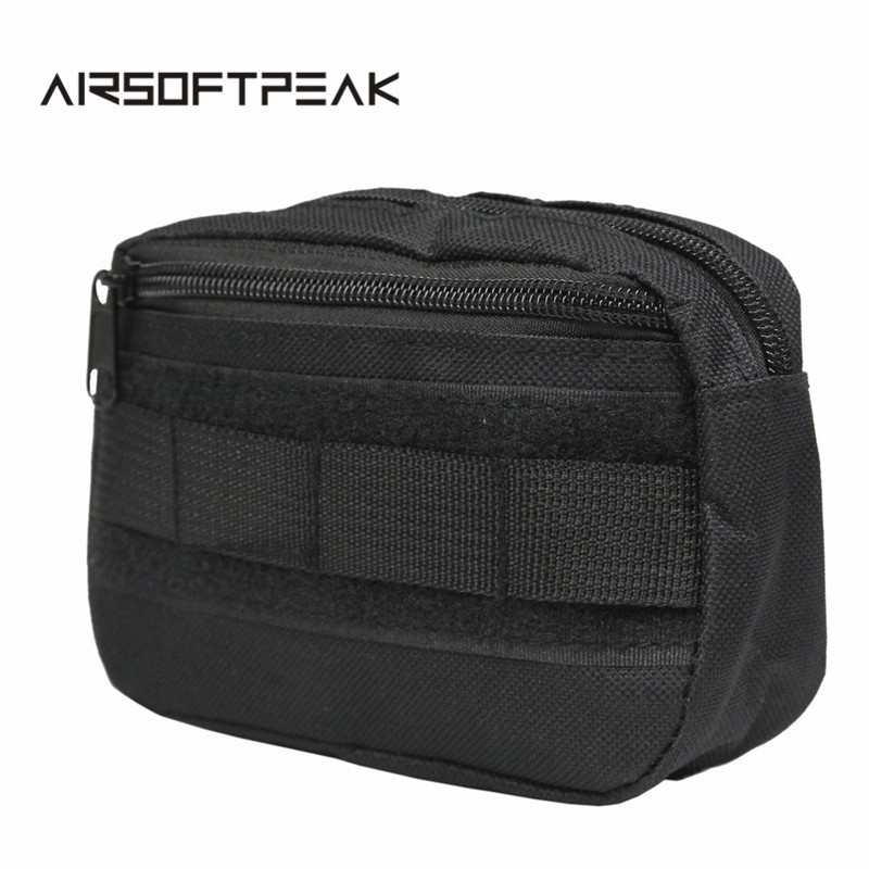 Tactical Pocket Organizer EDC Pouch Hunting Pack Tool Bag Small Army Utility Field Sundries Pouches Military Belt Pouch airsoftpeak military tactical waist hunting bags 1000d outdoor multifunctional edc molle bag durable belt pouch magazine pocket