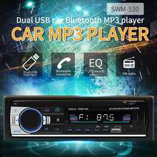 12V 1 DIN In-Dash Bluetooth Car Stereo FM Radio MP3 Audio Player Hands-free Calls Aux Input SD TF Dual USB MP3 MMC Car Raidos