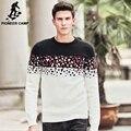 Pioneer camp novos homens outono inverno casual quente malha camisola do pulôver blusas roupas de marca de alta qualidade dos homens blusas 611219