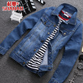 T china cheap wholesale 2016 spring Autumn new denim outerwear male slim vintage long-sleeve men fashion casual clothing jacket
