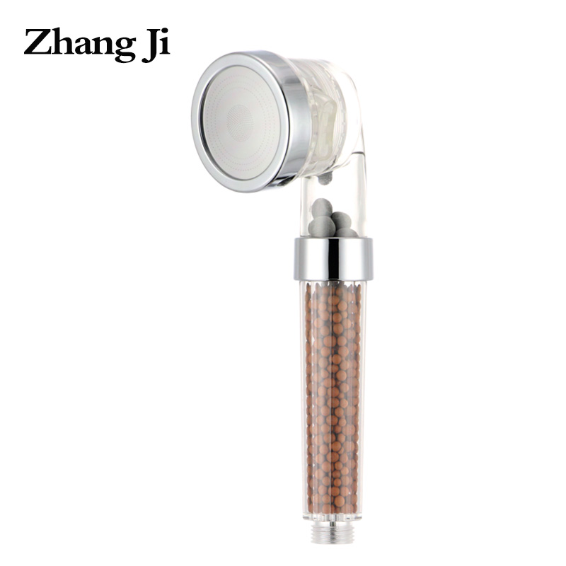 newest water therapy spa shower head water saving detachable anion filter water softener shower head zj109